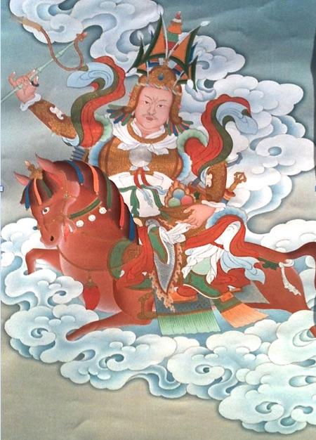 Thangka Illustration of Gesar
