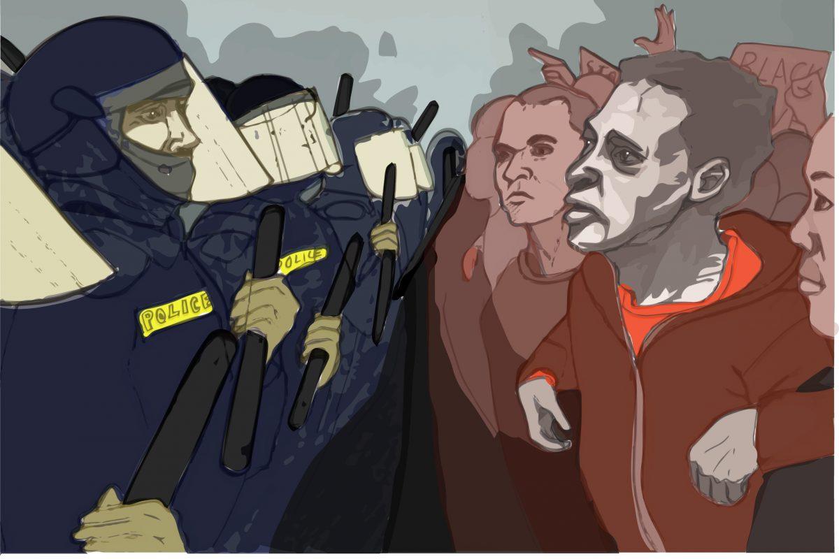 Illustration of protest