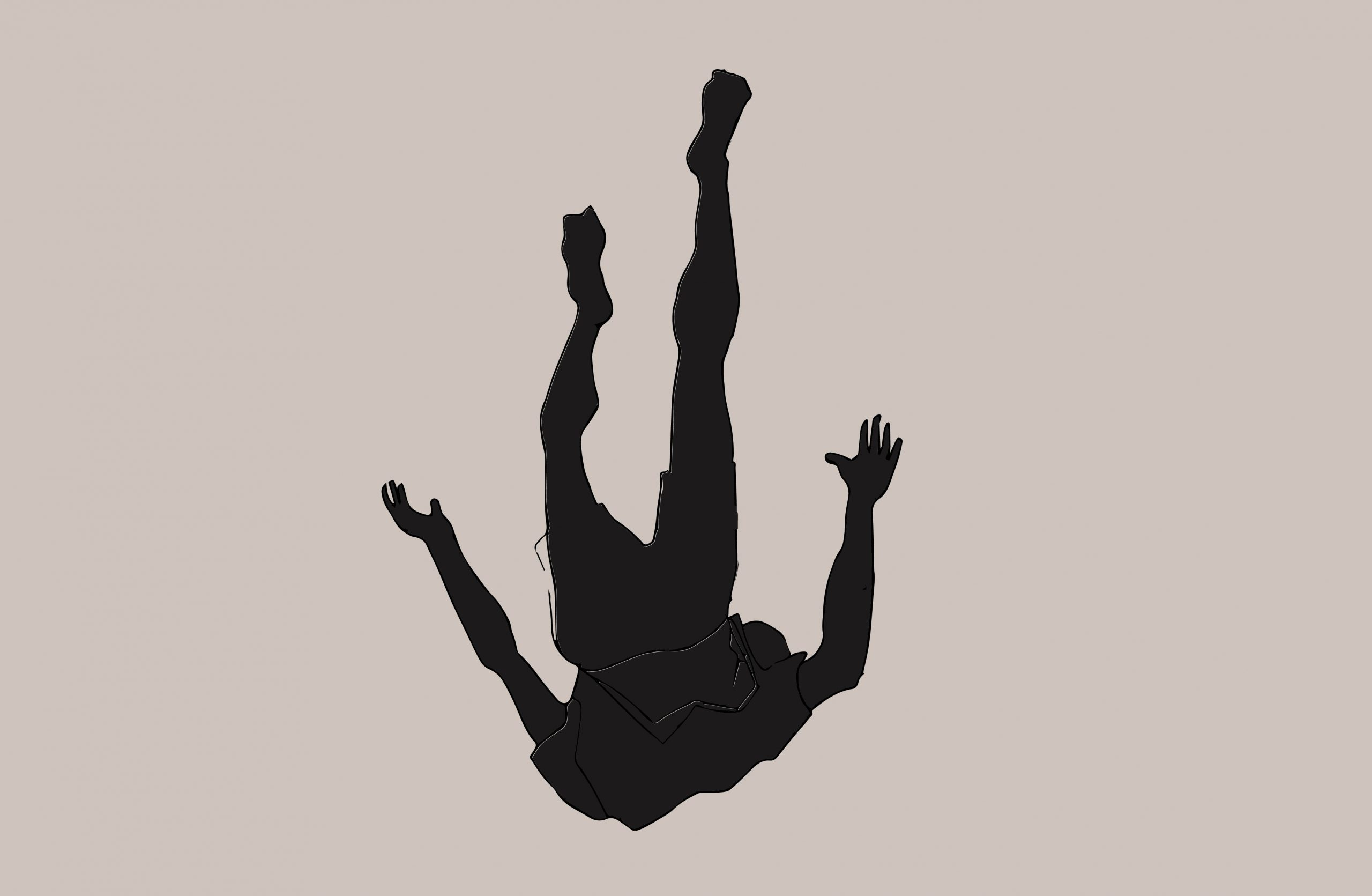 Illustration of person falling